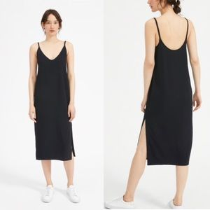 Everlane Japanese GoWeave Long Slip Black Dress